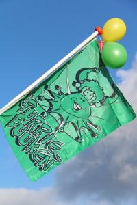 De vlag van de Spurriebuuken uit Oploo.